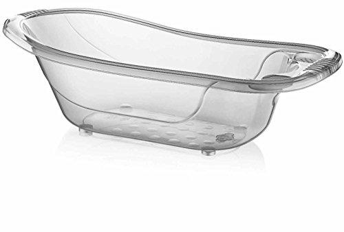 Large 50 Litre Aqua CLEAR Clear / Transparent Baby Bath Tub - Babaloo