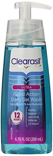 Clearasil Ultra Rapid Action Acne Treatment Face Wash Gel, 6.78 Ounce