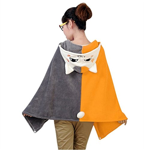 LATH.PIN Halloween Cosplay Totoro Shoulder Cape Shawl Cloak Soft Plush Costume (Cat) (Cat Soft Costume)