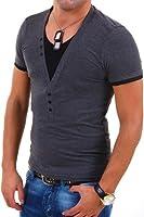 Carisma 2in1 T-Shirt Col en V profond - V-Neck - modèle : T202 - couleur Gris Anthracite