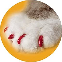Cat Soft Claws Nail Caps Red Large 15-20 LBs