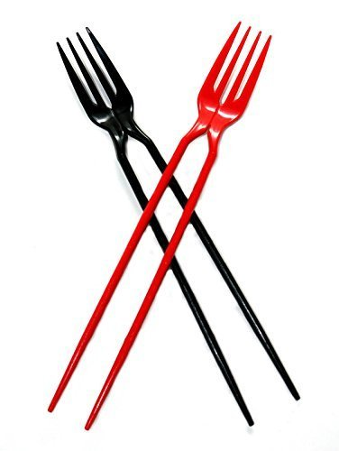 The-Chork-Chopsticks-and-Fork-in-One-Black-24-Pack