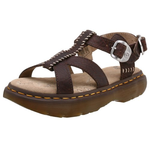 Dr. Martens Women'S Cherie Sandal,Dark Brown,5 Uk (Us Women'S 7 M)
