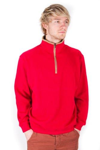 Daniel Hechter Paris Pima Cotton Classic Men's 100% Cotton Red Sweater Jumper Pullover L size