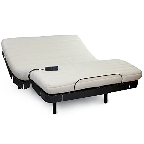 Comforttop Sweet Top Rta Adjustable Base Standard/11-Inch Foam Mattress Combo Set, Split California King, Black