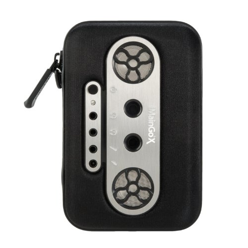 Imaingo X Portable Speaker Case 3.5Mm Aux With Plug And Share Ports (Black)