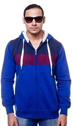 Unicott Full sleeves Blue printed Men's Sweatshirt (L) (Large)