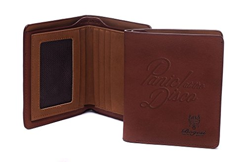 AYHENG Panic At The Disco Band Logo Wallets Embossed Leather Bifold Wallet (City Of Muskegon Jobs)