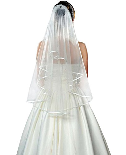Bride wedding yarn yarn double ribbon - bat veil