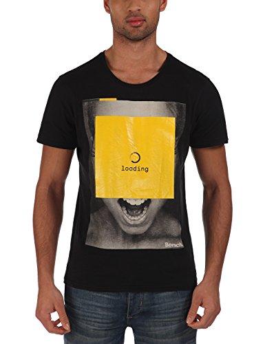 Bench - T-Shirt Loading, Maglia a maniche lunghe Uomo, Nero (Jet Black), Small (Taglia Produttore: Small)