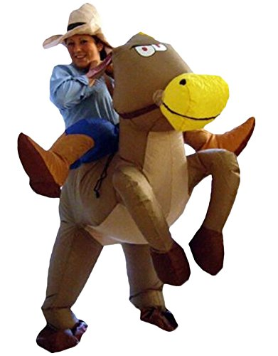Ace Halloween Adult Inflatable Suit Horse Riding Cowboy Costumes