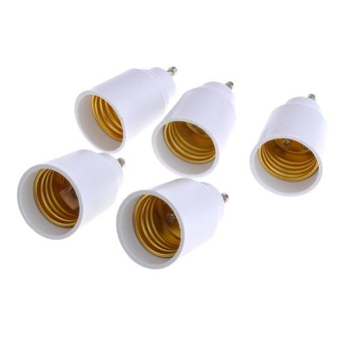 Neewer® 5 Pcs Gu10 To E27 Lamp Adapter, Converts Gu10 Pin Base Fixture To Standard E27 Screw-In Bulb Socket