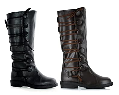 Men's 1 Inch Renaissance Inspired Boot (Black;Large)