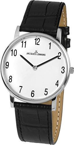 c7db7dda8a54 Jacques Lemans Vienna - Reloj de pulsera analógico para mujer cuarzo piel 1  - 1849b