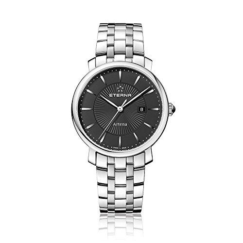 Eterna 2510.41.41.0273 - Reloj de pulsera mujer, acero inoxidable, color plateado