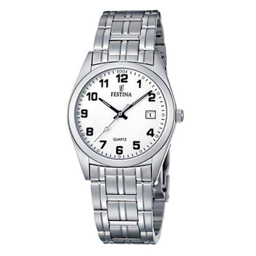 Festina F8825/4 - Reloj analógico de cuarzo para hombre con correa de acero inoxidable, color plateado