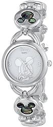 Disney Women's MK2006 Mickey Mouse Abalone Stone Links Bracelet Watch