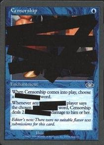 Magic: the Gathering - Censorship - Unglued