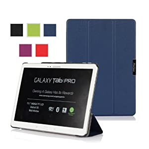 ProCase Samsung Galaxy Tab PRO 10.1 Tablet Case - SlimSnug Hard Shell Stand Cover Case for Galaxy TabPRO 10.1 inch SM-T520,T525 (Navy, Dark Blue)
