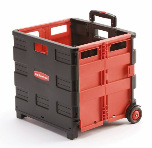 Red Collapsible Cargo Rolling Cart by Rubbermaid