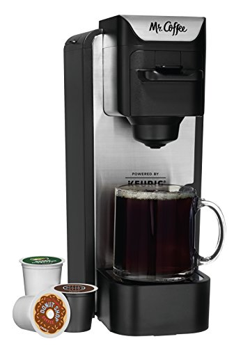 Mr. Coffee K-Cup Brewing System with Reusable Grounds Filter, Silver, SC100 (Single Serve Brewing System compare prices)