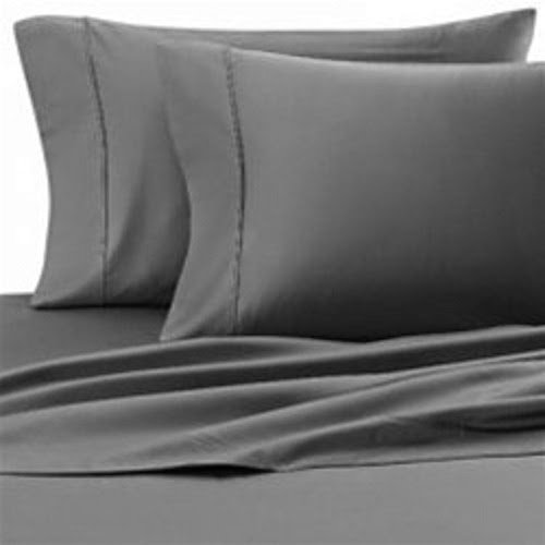 400 Thread Count Super Soft Extra Deep Pocket Sheet Set Twin Extra Long Solid Elephant Gray Fit Up to 19