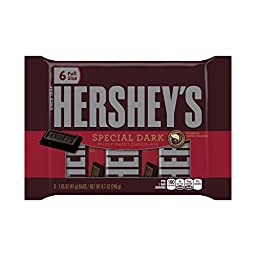 HERSHEY\'S SPECIAL DARK Mildly Sweet Chocolate Bar (1.45-Ounce Bars, 6-Count)