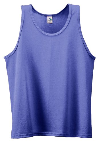 Augusta Sportswear Youth Athletic Knit Tank Top, Purple, Large front-597570