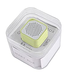 Elsse Micro Music Cube Bluetooth Speaker with Built in Microphone for iPhone, Samsung Galaxy S5 / S6, HTC One M8 / M9 and Any Bluetooth Compatible Smartphones and Music Players - Yellow