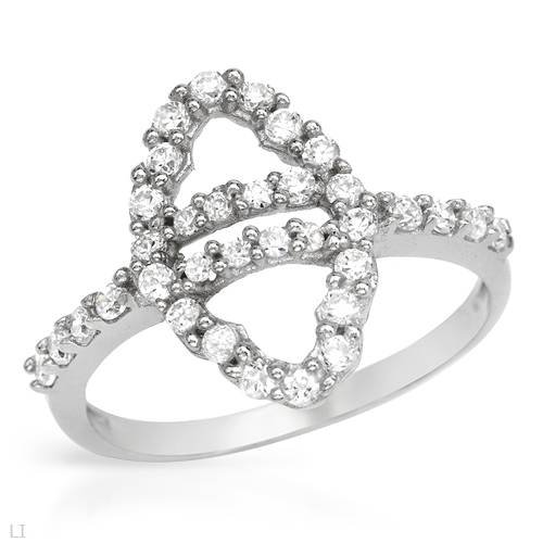 Ring With 2.50ctw Cubic zirconia Beautifully Designed in 925 Sterling silver (Size 6.5)
