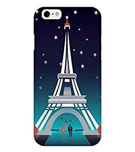 Chiraiyaa Designer Printed Premium Back Cover Case for iPhone 6 (couple boy girl friend valentine miss kiss heart effil tower) (Multicolor)