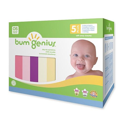 Bumgenius 4.0 Snap Staydry Cloth Diaper Girl 5Pk (One Size) front-577753