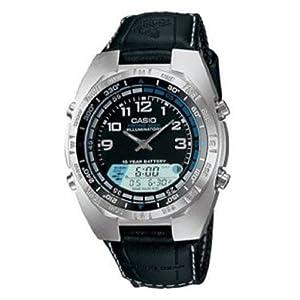 Men's Casio® Analog Pathfinder Moon Phase Fishing Watch