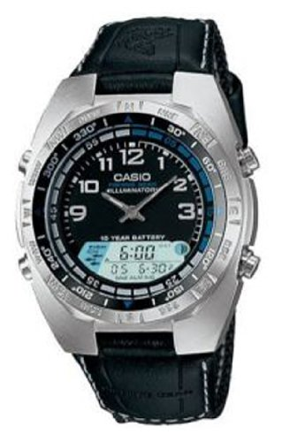 Men&#8217;s Casio Analog Pathfinder Moon Phase Fishing Watch