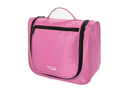 Couple Voyage / Cosmetic Portable / sac de lavage imperméable à l'eau-rose