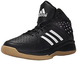 adidas Performance Men\'s Court Fury Basketball Shoe,Black/White/Gum,9 M US
