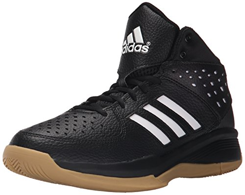 adidas Performance Men's Court Fury Basketball Shoe,Black/White/Gum,9 M US