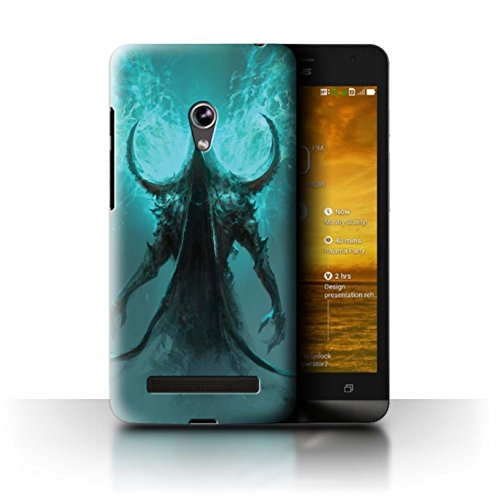 Official Chris Cold Phone Case / Cover for Asus Zenfone 5/A500CG / Cloaked Devil Design / Dark Art Demon Collection (Devil Case For Zenfone 5 compare prices)