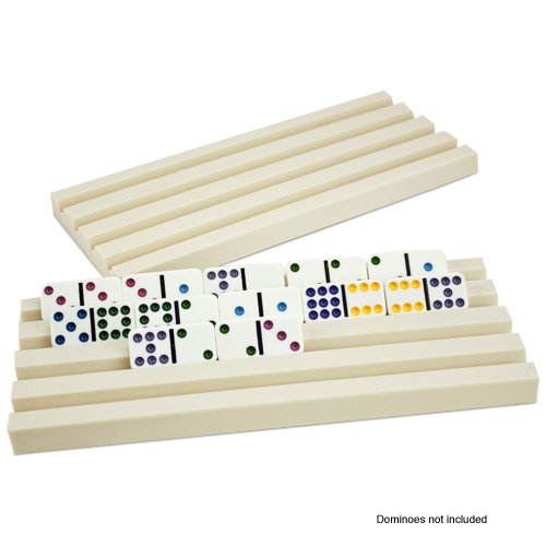 Set of Two Plastic Domino Trays by Brybelly