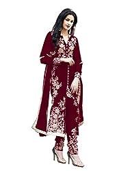 Sanjana Design Women's fashino Georgette dress material ( KS4004_Free Size_Broun)
