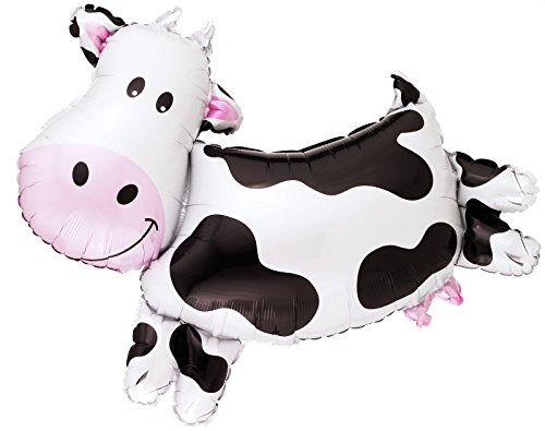 Anagram International 1106301 Cow Shape Foil Balloon Pack, 30""
