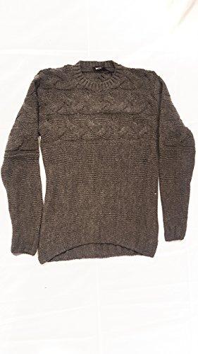Besilent - Maglia uomo lana paricollo (s, grigio)