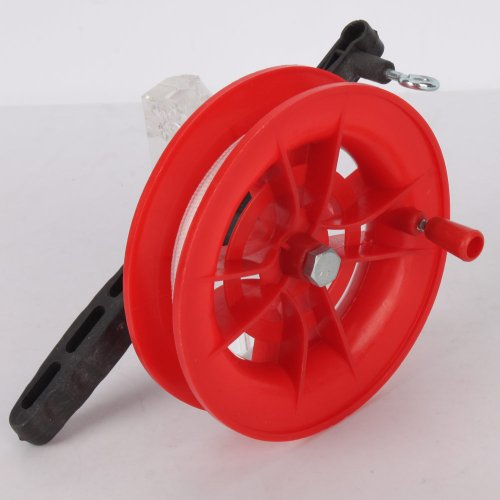 Plastic Outdoor Kite Line Winder Winding Reel Grip Wheel with 50m Nylon Line String Flying Tools Set