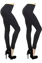 Fashion Mic Women's Regular and Plus Size Nylon Seamless Leggings