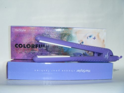 Herstyler Colorful Season Purple Ceramic Flat Iron front-347006