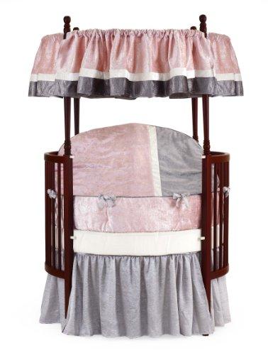 Baby Doll Round Crib Bedding Set, Pink, 8 Piece