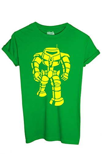 T-SHIRT ROBOT SHELDON BIG BANG THEORY-SERIE TV by MUSH Dress Your Style - Uomo-XL-VERDE PRATO