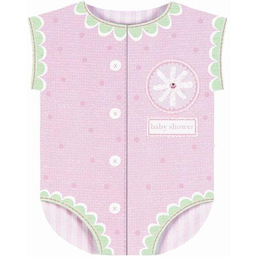 Pink Onesie Jumbo Baby Shower Invitations 8ct