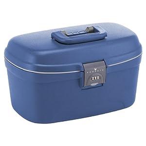 roncato vanity case rigide spider light 36 cm bleu bagages. Black Bedroom Furniture Sets. Home Design Ideas