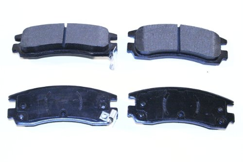 Prime Choice Auto Parts SMK698 New Rear Semi Metallic Brake Pad Set